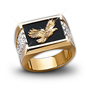 """Wings Of Glory"" Bald Eagle Men's Ring"