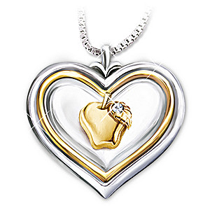 """Hearts Of Learning"" Pendant Necklace For Teachers"