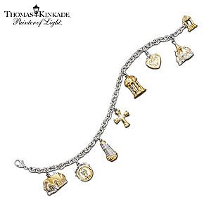 "Thomas Kinkade ""Faith And Family"" Charm Bracelet"