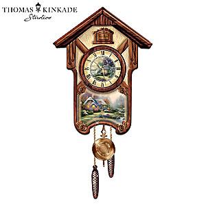 "Thomas Kinkade ""Timeless Memories"" Wall Clock"