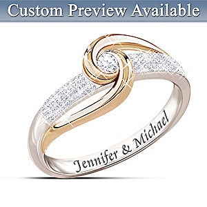 """Lover's Knot"" Personalized Diamond Ring"