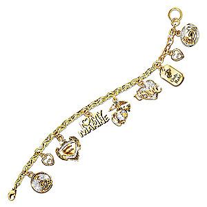 """""""I Love My Marine"""" Swarovski® Crystal Charm Bracelet"""