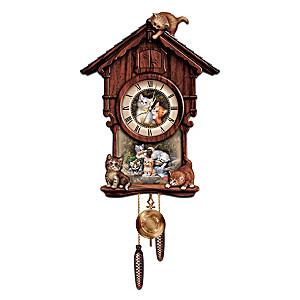 Jürgen Scholz Kitten Art Wall Clock