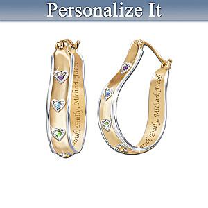 """A Mother's Joy"" Personalized Birthstone Earrings"
