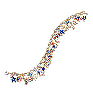 "The Ultimate ""Stars And Stripes"" Crystal Charm Bracelet"