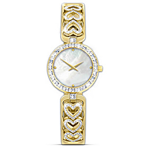 """Love Always"" Diamond Heart Watch With Engraving"