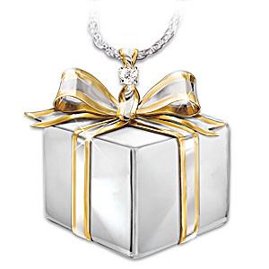 """Diamond """"Gift Of Love"""" Pendant For Daughter"""