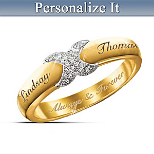 """Everlasting Kiss"" Personalized Diamond Ring"