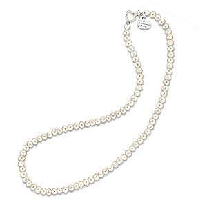 """Grandma's Pearls Of Wisdom"" Cultured Pearl Necklace"