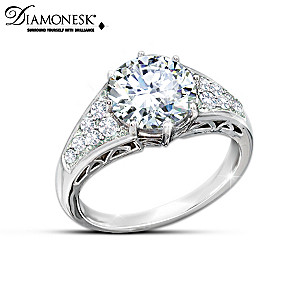 """Reign Of Romance"" Diamonesk Replica Royal Engagement Ring"