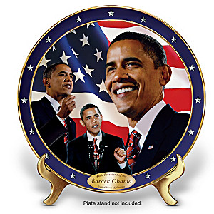"""Yes We Can"" Barack Obama Porcelain Collector Plate"