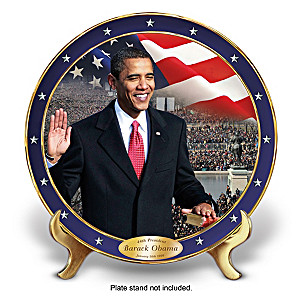 """""""The Time Has Come"""" Barack Obama Tribute Collector Plate"""