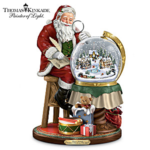 Illuminated Thomas Kinkade Christmas Snowglobe