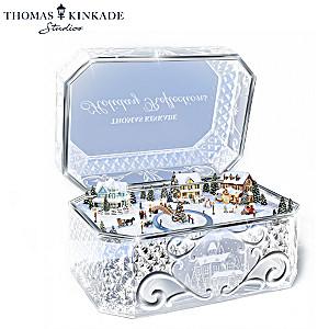 Thomas Kinkade Animated Crystal Holiday Music Box