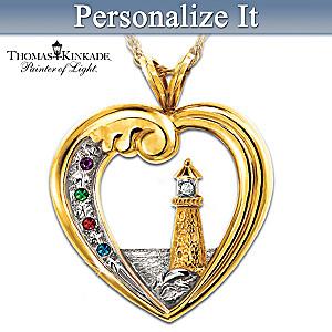 Thomas Kinkade Personalized Birthstone Pendant Honors Family