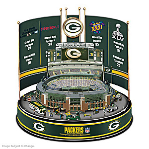 Packers Super Bowl Champions Lighted Rotating Carousel