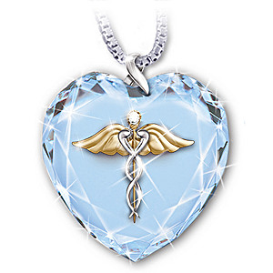 """Healing Touch"" Crystal Heart Pendant Necklace"