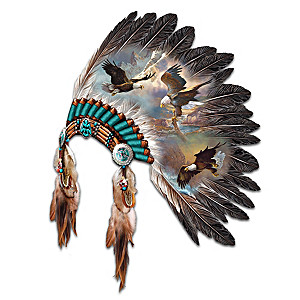 Replica Ceremonial Warrior Headdress Wall Decor