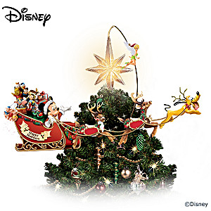 illuminated rotating disney tree topper - Disney Christmas Tree