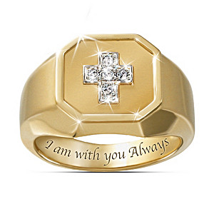 """Devotion"" Men's Diamond Ring With Engraved Message Of Faith"