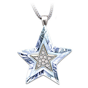 Crystal Star Pendant With Sentiment Card For Granddaughter
