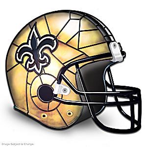 New Orleans Saints Football Helmet Lamp