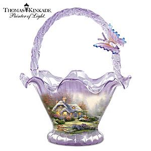 "Thomas Kinkade ""Everett's Cottage"" Hand-Blown Glass Bowl"