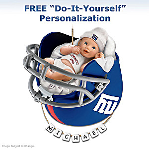 "Personalized ""Giants Fan"" Baby's First Christmas Ornament"