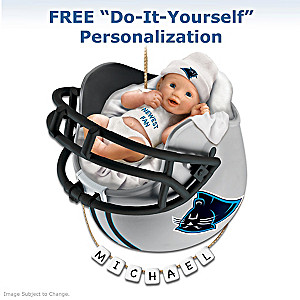 """Personalized """"Panthers Fan"""" Baby's First Christmas Ornament"""