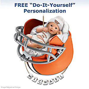 "Personalized ""Browns Fan"" Baby's First Christmas Ornament"