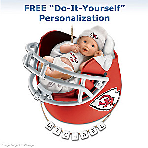 "Personalized ""Chiefs Fan"" Baby's First Christmas Ornament"