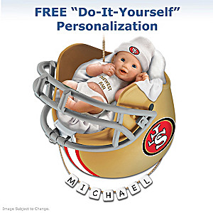 "Personalized ""49ers Fan"" Baby's First Christmas Ornament"