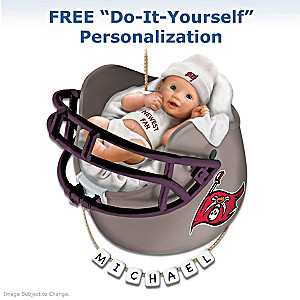 "Personalized ""Buccaneers Fan"" Baby's 1st Christmas Ornament"