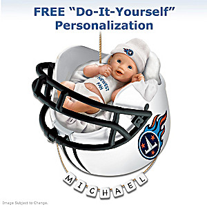 "Personalized ""Titans Fan"" Baby's 1st Christmas Ornament"