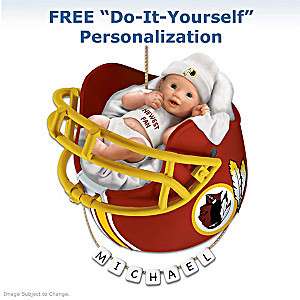 """Personalized """"Redskins Fan"""" Baby's First Christmas Ornament"""