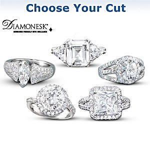 Diamonesk Simulated Diamond Ring In High-Fashion Styles