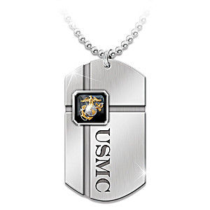 For my marine usmc dog tag pendant necklace usmc dog tag pendant necklace for marines aloadofball Gallery