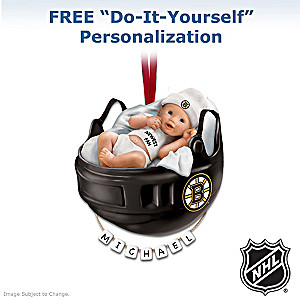 Personalized Bruins® Baby's 1st Christmas Ornament