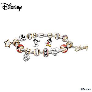 Walt Disney Mickey Mouse Charm Bracelet