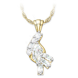 """""""Fire And Ice"""" Solid 10K Gold And Diamond Pendant Necklace"""