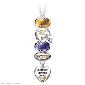 Go Ravens! #1 Fan Charm Necklace