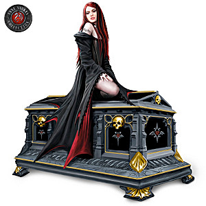 Gothic Vampire Queen And Crypt Music Box