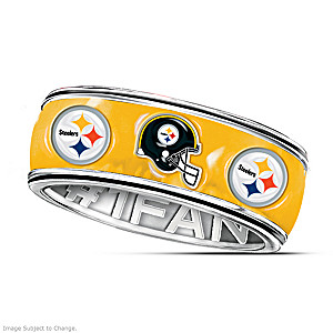 Officially Licensed Pittsburgh Steelers Spinning Band Ring