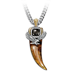 Majestic power genuine tigers eye and black onyx eagle talon pendant tigers eye and black onyx eagle talon pendant necklace aloadofball Images