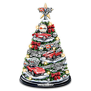 Corvette Illuminated Christmas Tree With Engine Sounds