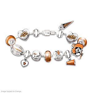 Oklahoma State Cowboys Bracelet With Swarovski Crystals