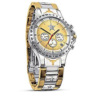 Texas Lone Star Diamond Men's Chronograph Watch