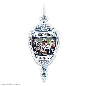 Patriots Super Bowl LI Champions Crystal Ornament