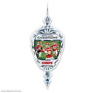 Chiefs Super Bowl LIV Champions Crystal Ornament