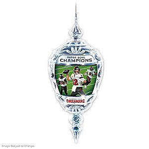 Buccaneers Super Bowl LV Champions Crystal Ornament